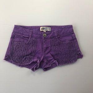 Jolt Women's Size 5 Purple Knitted Casual Shorts